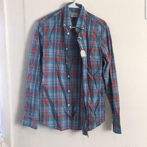 J Crew slim fit cotton heathered button down shirt